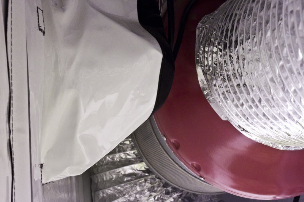grow room vent fan filter