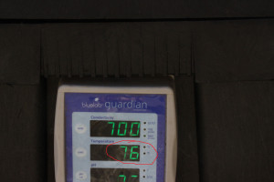 warm hydroponics reservoir temperatures