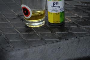 pH testing for hydroponics lettuce