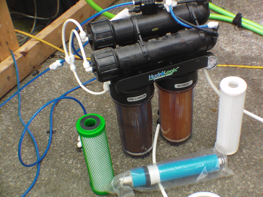 Hydroponic ro water filter demonstration grozinegrozine for Garden water filter system