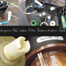 Hydroponic RO Water Filter Demonstration