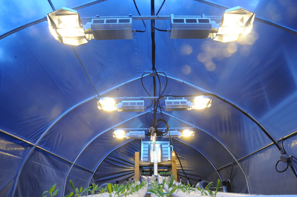 controlled hydroponic greenhouse climate