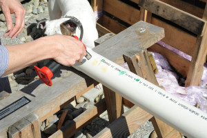 heat plastic pipe grow tubes