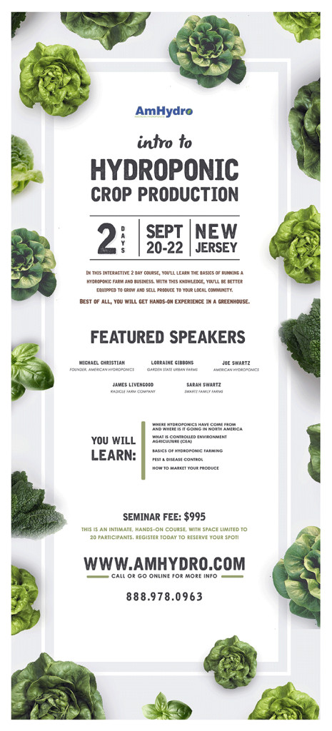 amhydro hydroponic classes seminar program