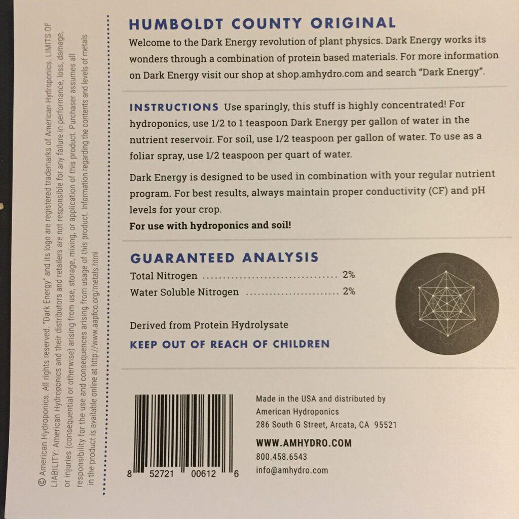 amhydro dark energy nutrient starter kits