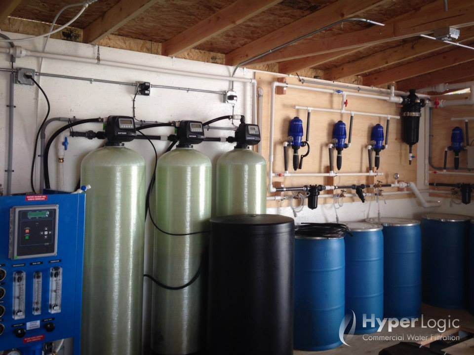 large scale hydroponic water filtration