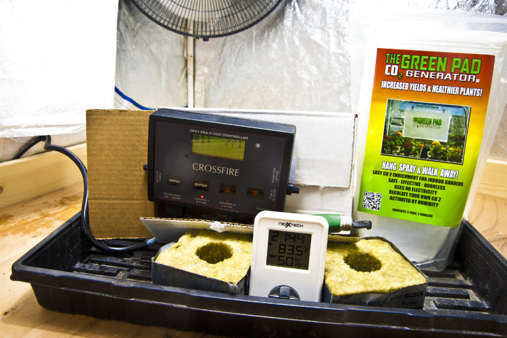 green pad co2 boosts hydroponics clones