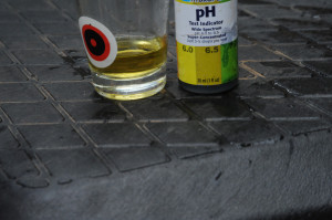 pH testing for hydroponics lettuce