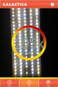 LED grow light intensity