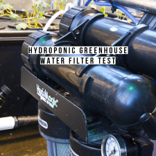 Hydroponic Greenhouse Water Filter Test