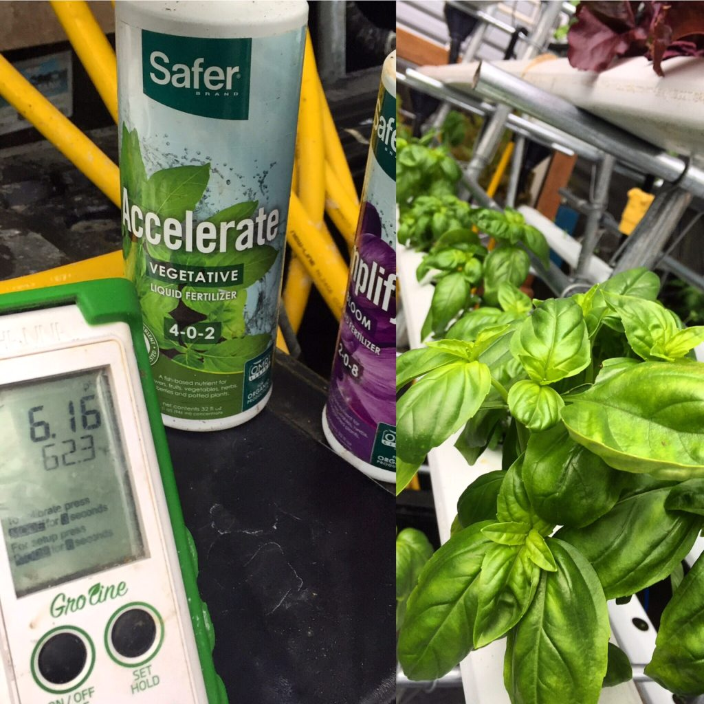 monitoring organic nutrient solutions