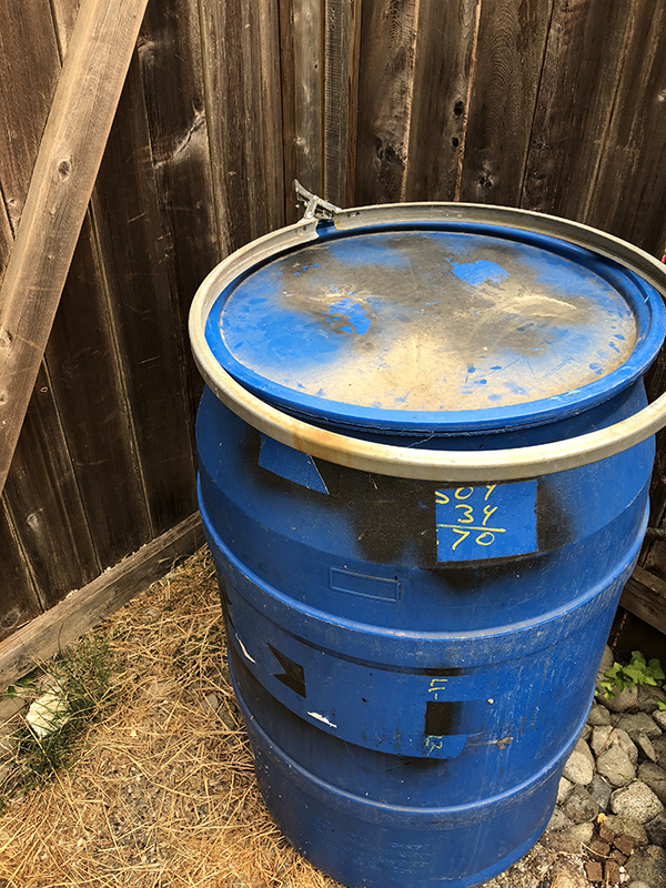 barrel for aquaponics tank