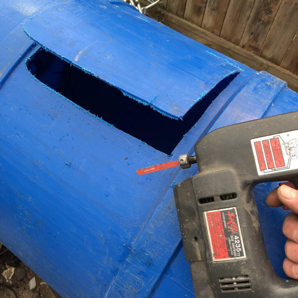 diy aquaponics hole cut